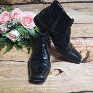 """Stacy Adam's Mens Boots 8 Mens Leather """"Crocodile"""""""